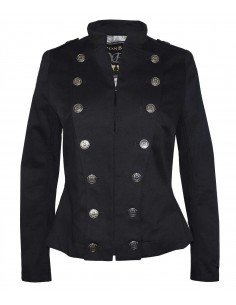 Black orchestra jacket will buttons for decoration