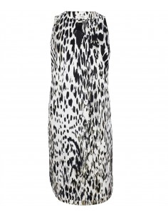 Tunic dress in black and white print