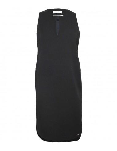 VONBON Tunika klänning, den lilla svarta snygg kostymklänning strykfritt tyg