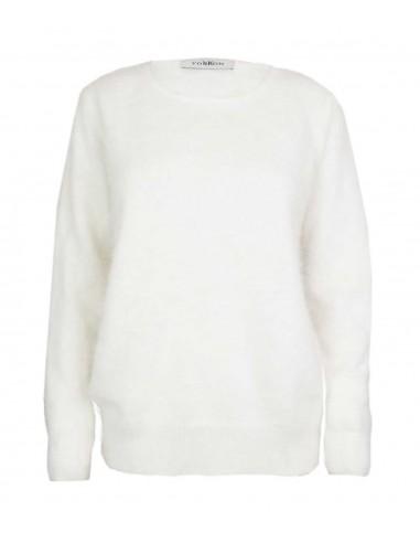 White cashmere sweater in 100% pure cashmere