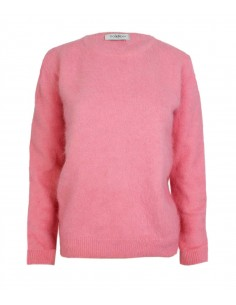 Cashmere sweater in color pink