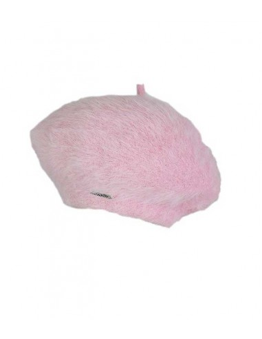 VONBON pink beret  in 100 % cashmere, classic style