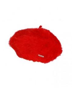 VONBON Röd basker i klassisk modell kvalitet är 100% kashmir