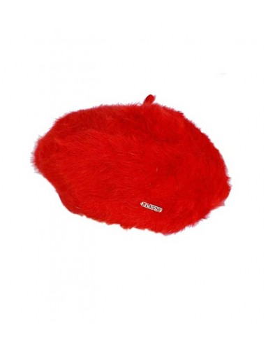 VONBON red beret in 100 % cashmere, classic style