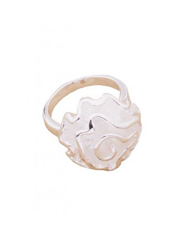 Big silver ring from VONBON with a big silver rose