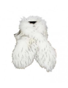 VONBON halsduk i vit fusk päls