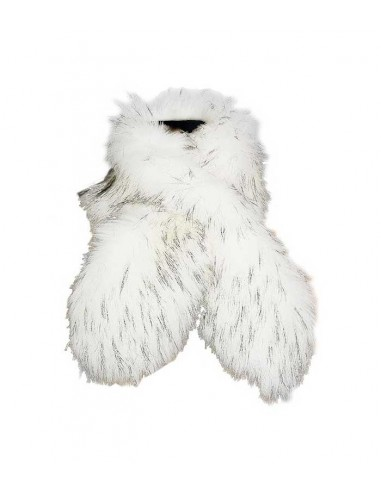 VONBON White fake fur shawl raccoon imitation
