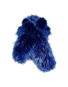 VONBON blue fake fur shawl raccoon imitation