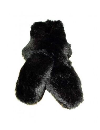 VONBON halsduk i svart fusk päls