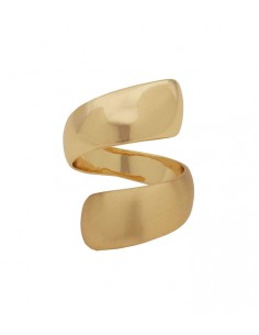 Pilgrim jewelry - big gold ring from Pilgrim Jewelry with a dull and a shiny surface. Ring Alma