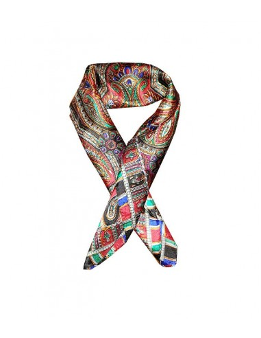 classic silk scarf in pure silk with paisley pattern