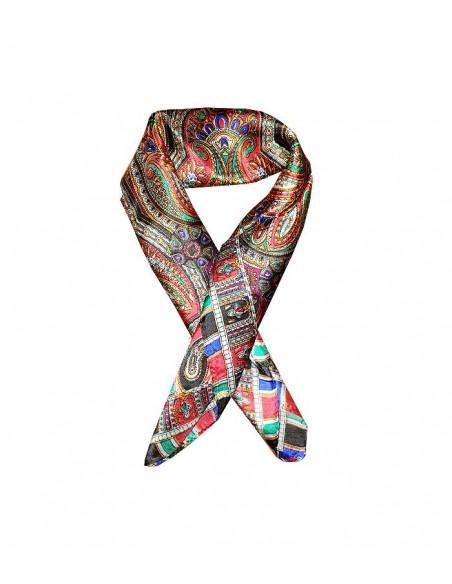 klassisk siden sjal i äkta siden / silke med paisleymönster