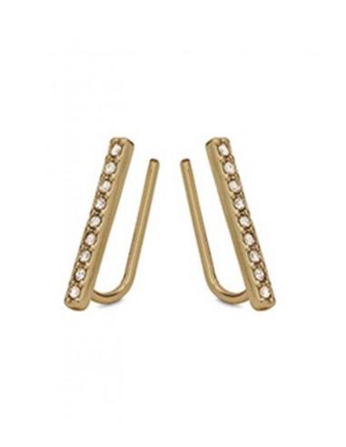 Pilgrim smycken - stift örhängen i guld och strass från Pilgrim smycken