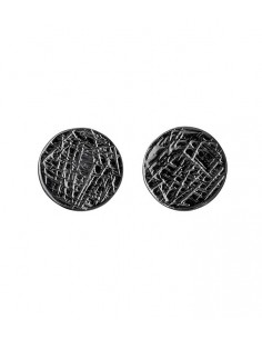 silver earrings from Pilgrim Jewelry in color black