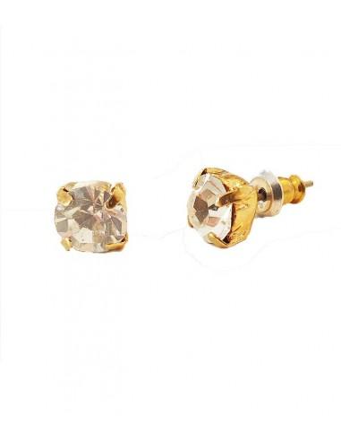 stift örhängen i guld och strass från Pilgrim smycken