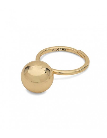 Pilgrim jewelry - POE big gold ring with a ball from Pilgrim Jewelry
