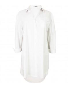 Vit oversized storskjorta / klänning i bomull