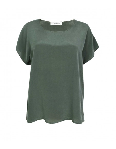 VONBON 100% Silk Blouse. Shortsleeve silk top