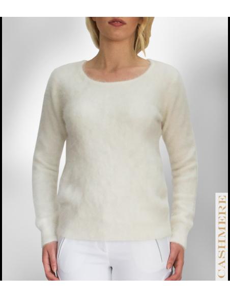 Vit kashmir tröja i 100% ren kashmir