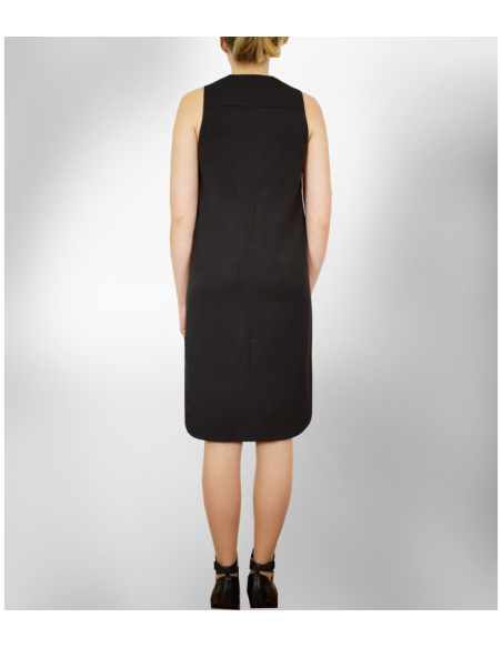 VONBON Tunika klänning, den lilla svarta i strykfritt tyg