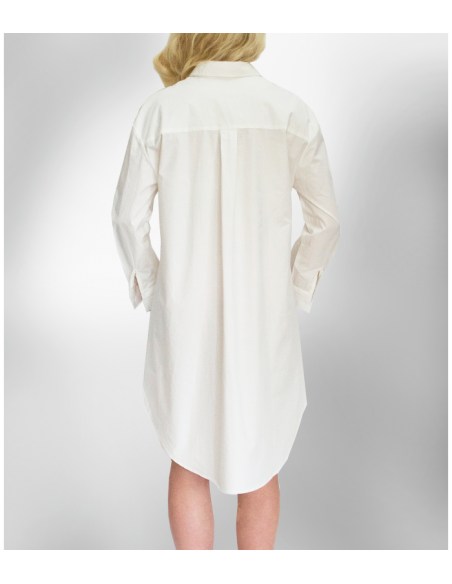 White over-sized cotton shirt