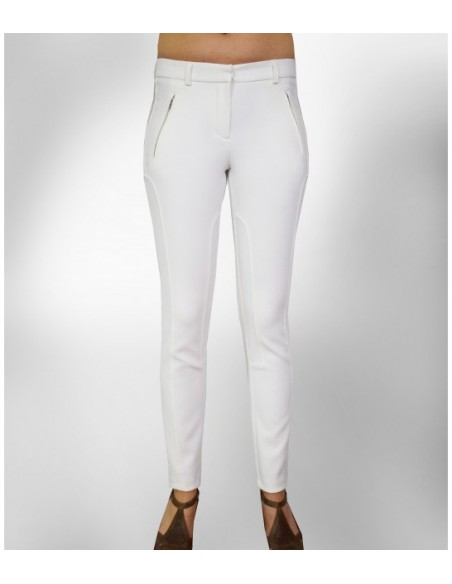 white classic trousers, White suit trousers with decoration seams