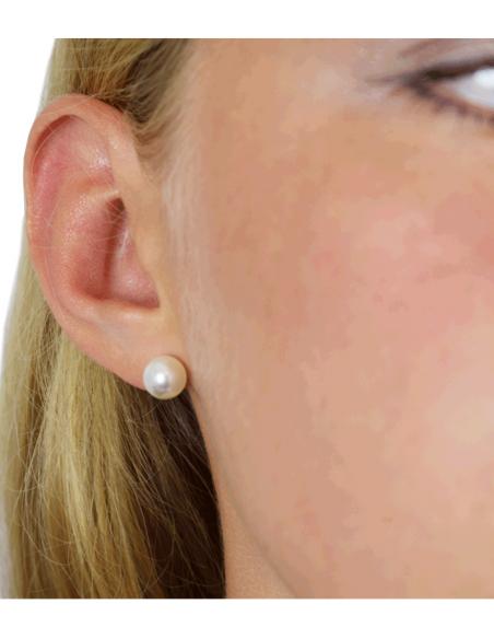 VONBON stift örhängen i guld med äkta pärlor från Pilgrim smycken och VONBON smycken