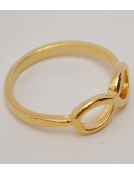 gold ring with eternity symbol from Pilgrim jewelry
