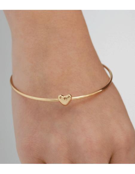 VONBON guld armband med guld hjärta