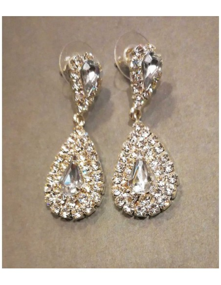 rhinestone earrings from Pilgrim jewelry