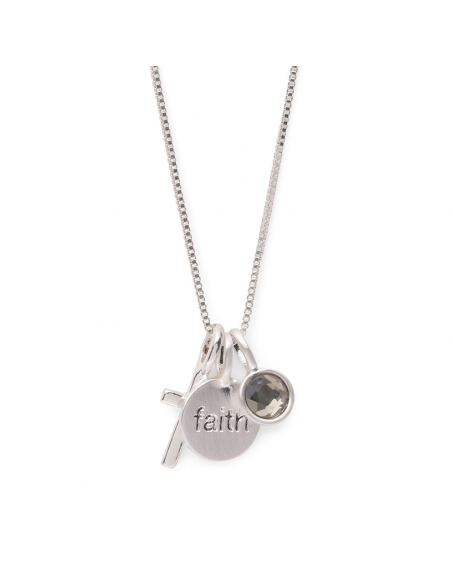 Pilgrim jewelry - necklace fortune. Necklace in silver with cross pendants, faith.
