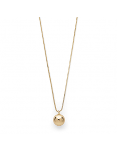 POE gold necklace from PILGRIM jewelry with a ball pendant