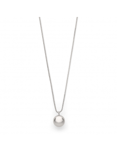 silver necklace from PILGRIM jewelry with a ball pendant