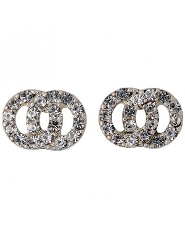 strass örhängen från Pilgrim smycken. Kristall formade ringar