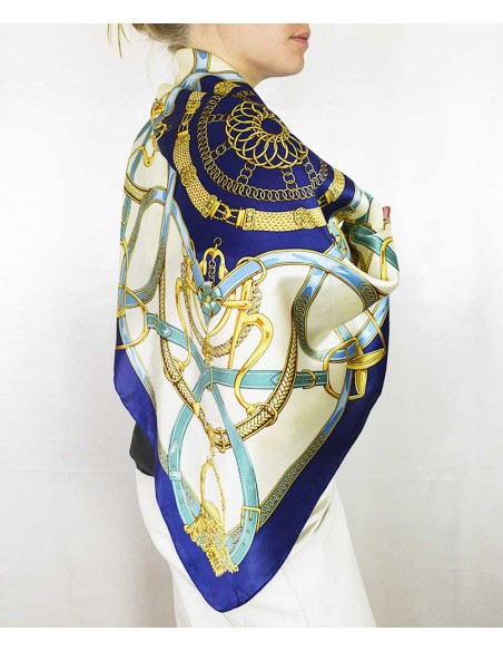 klassisk siden sjal i äkta siden / silke
