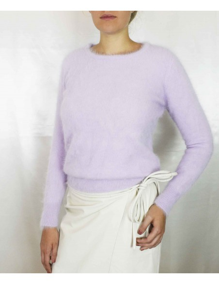 Light lilac cashmere sweater in 100% cashmere