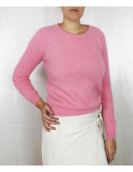 Kashmir tröja i laxrosa färg. 1100% ren kashmir.