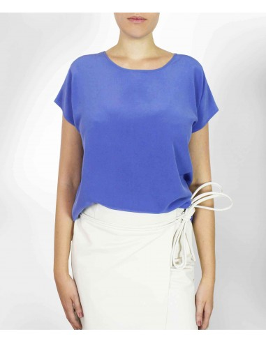 VONBON 100% Silk Blouse. Shortsleeve silk top