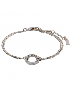 Crystal bracelet in silver from Pilgrim Jewelrey