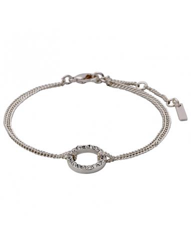 silver armband med strass stenar från Pilgrim smycken