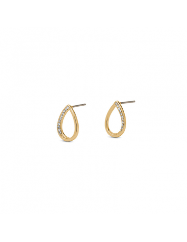 Earrings in gold and crystal from Pilgrim Jewelry