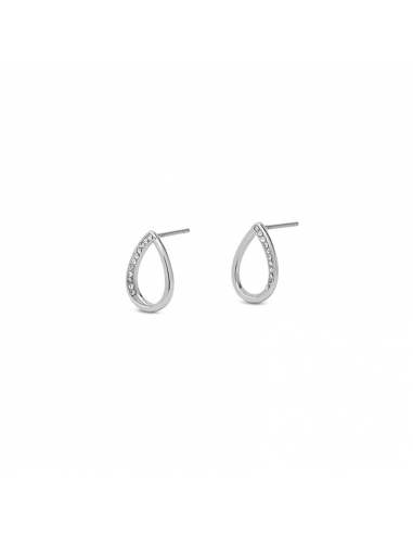 Earrings in silver and crystal from Pilgrim Jewelry