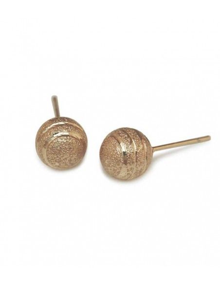 gold earrings with a ball