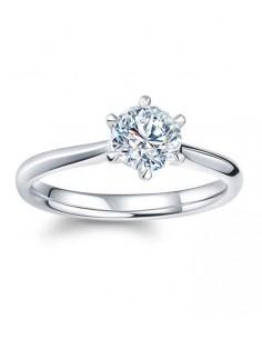 silverring från lilly and rose med en stor diamant