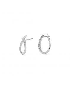 stift örhängen i silver och strass från Pilgrim smycken