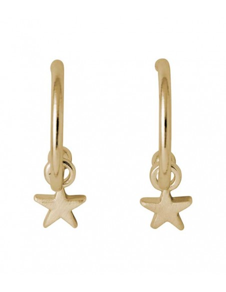 gold earrings with stars from Pilgrim jewelry