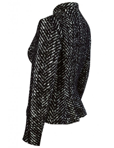VONBON Italian knitted blazer and jacket figure shaped silhouette with zigzag pattern