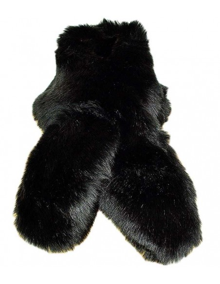 VONBON black fake fur shawl raccoon imitation