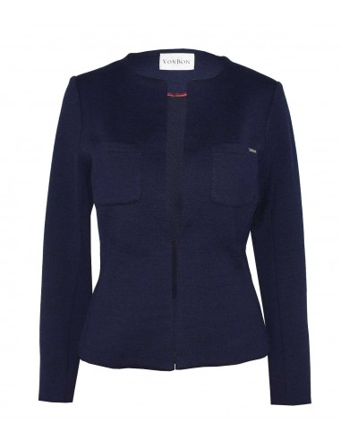 VONBON italian knitted blazer, jacket in darkblue color
