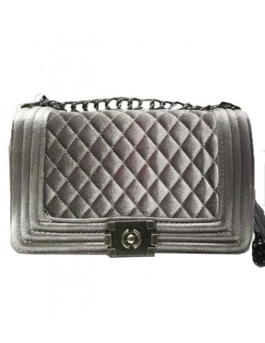 kviltad sammetsväska med kedja till axelrem, chanel väska midjeväska med skärrp